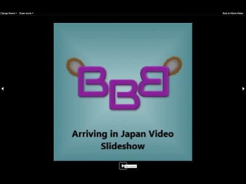 Video Slideshow of Arriving In Japan
