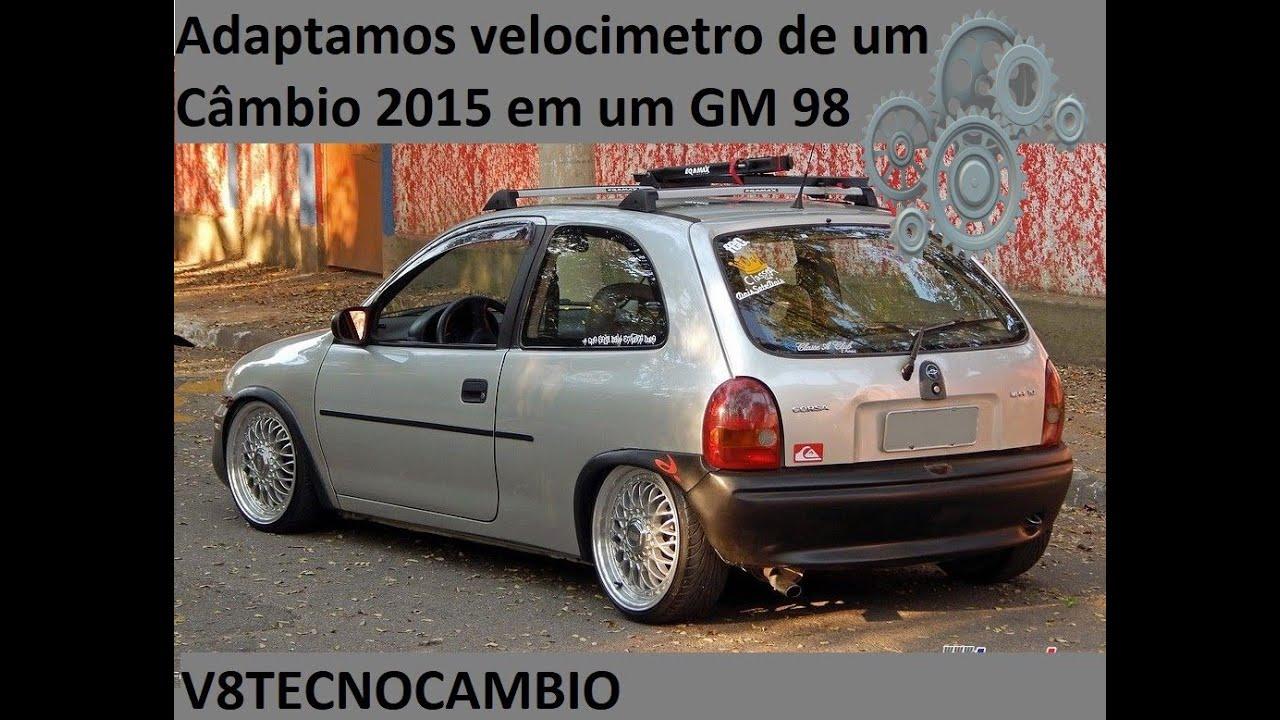 Como instalar Câmbio 2015 em um Corsa 1998? e o velocímetro? V8TECNOCAMBIO.