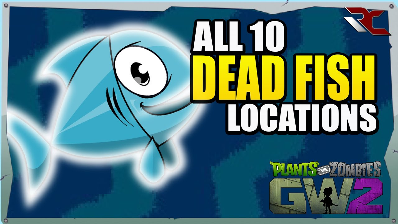 All 10 Secret Fish Locations in The Battleground | Plants vs Zombies Garden  Warfare 2 (Collectibles)