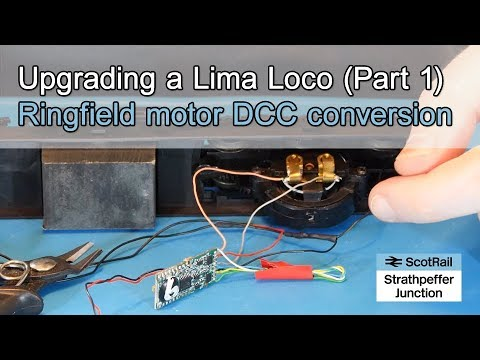 #12 Lima Cl 47 Loco Upgrade: Wiring a DCC Decoder to a Ringfield Motor Dcc Locomotive Decoder Board Wiring Diagrams on