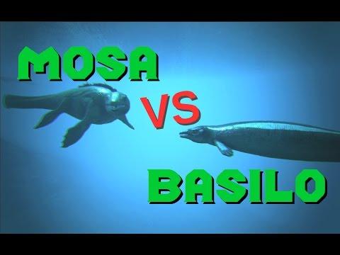 Mosasaurus vs Basilosaurus || ARK: Survival Evolved