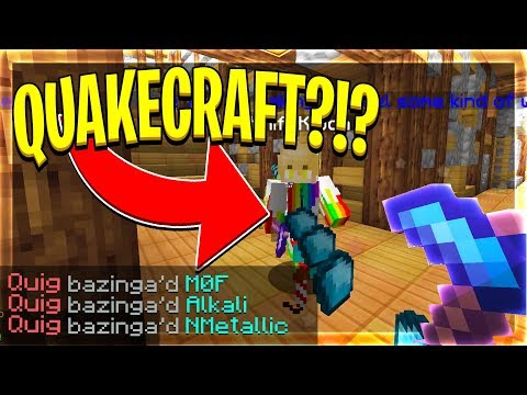 PLAYING THE FIRST GAME ON HYPIXEL!?! (Hypixel Quake Craft) |
