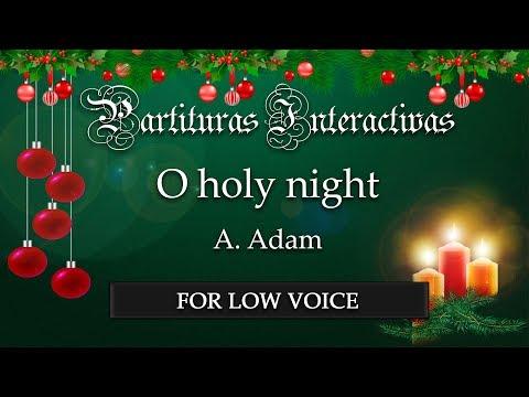 Cantique de Nöel (O holy night) KARAOKE FOR LOW VOICE - A. Adam - Key: A-Flat Major