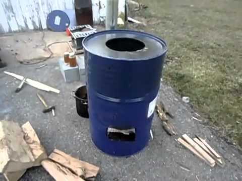 Institutional Barrel Rocket Stove Maple Syrup - YouTube