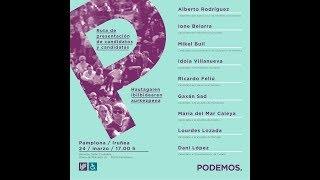 Ruta de presentación de candidatos y candidatas. Pamplona/Iruña. 24-03-2019.