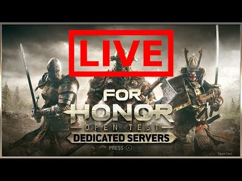 FOR HONOR DEDICATED SERVERS TEST DAY 1 - !Sponsor !Discord