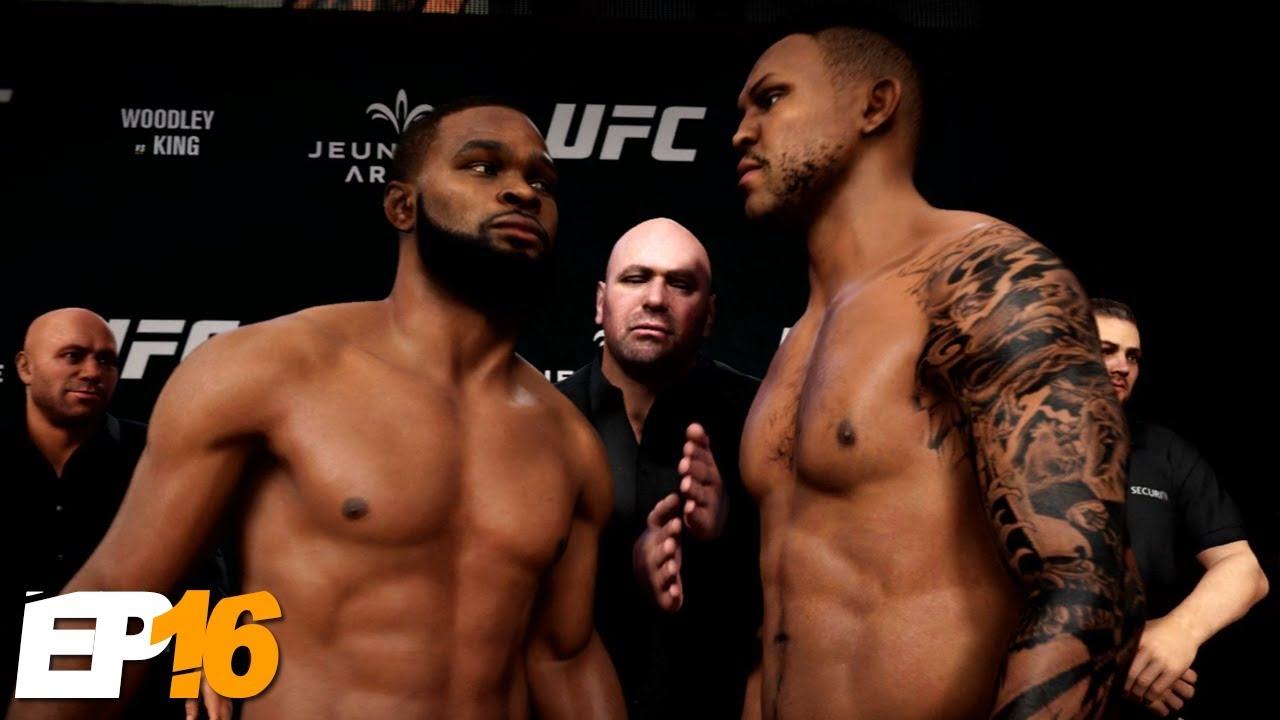 Two Belts Super Fight Against Tyron Woodley Ufc 3 Career Mode Ep16 Youtube