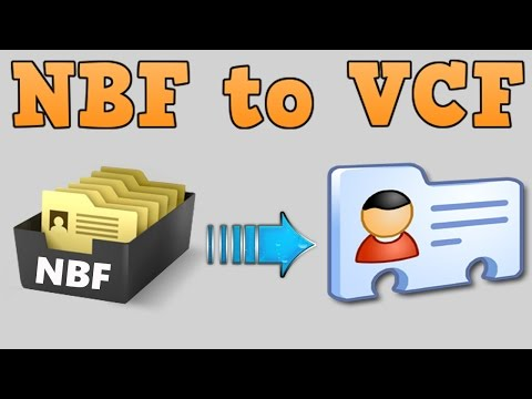 How to convert  NBF to  VCF or extract contacts from  NBF