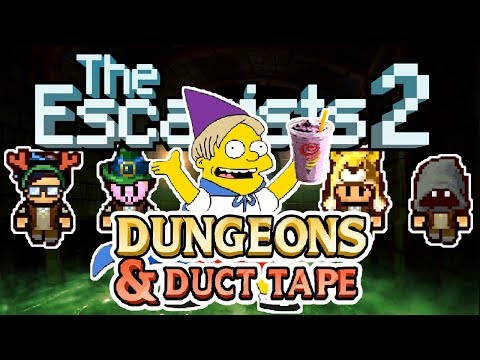 The Escapists 2: 4-Player - Dungeons & Duct Tape - #1 - No Magic Wednesdays and the Smoothiemancer