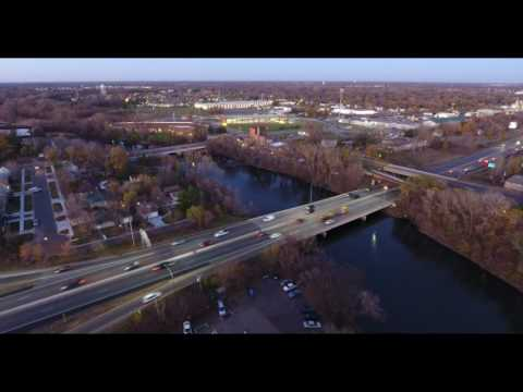 DOWNTOWN ANOKA MN FROM A DRONE!