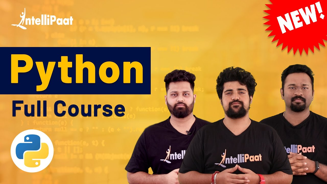 Python Tutorial for Beginners | Python for Beginners | Python Full Course | Intellipaat