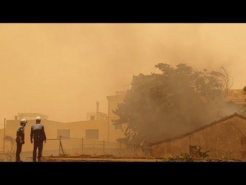 Массовая эвакуация. Лесные пожары и ураганный ветер. Ад в Тенерифе