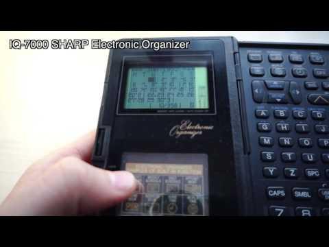 sharp electronic organizer iq 7000