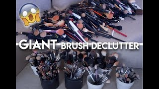 Decluttering my GIANT BRUSH COLLECTION! | Allison Wilburn MUA
