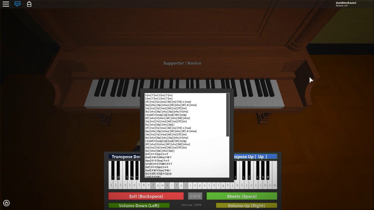 Tetris Theme Song On Roblox Piano Sheet Is In Description By
