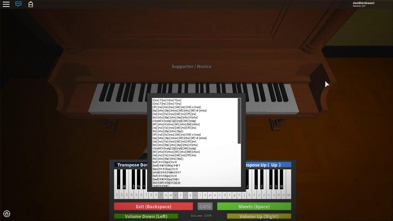 Roblox Virtual Piano Tetris Theme Song Youtube