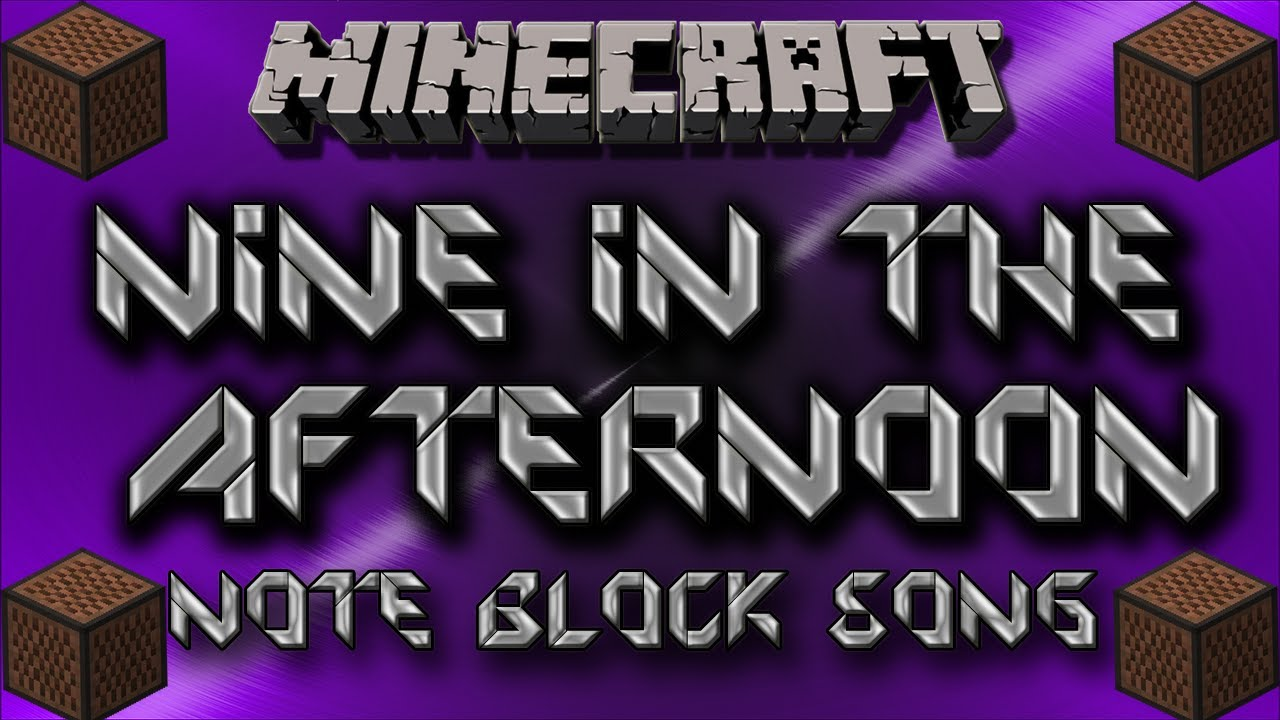Nine In The Afternoon Panic At The Disco Minecraft Note Block Song Youtube