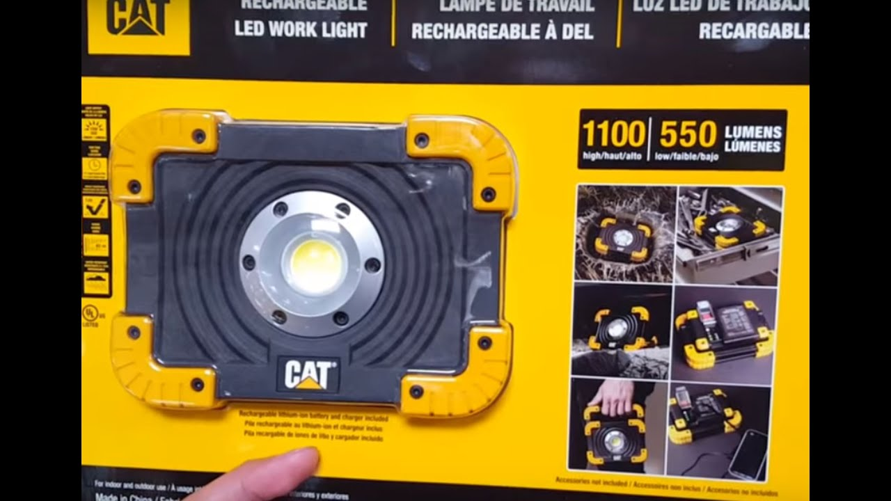 Led Cat Work Lights : Costco cat lumen led work light and charger youtube