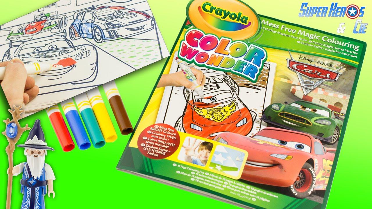 CRAYOLA Coloriage Magique Color Wonder Disney Cars sans tache Flash McQueen  Les Bagnoles Review