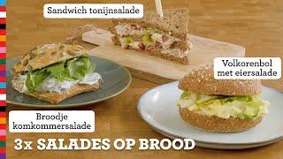 3x salades   Gezond broodbeleg   Voedingscentrum