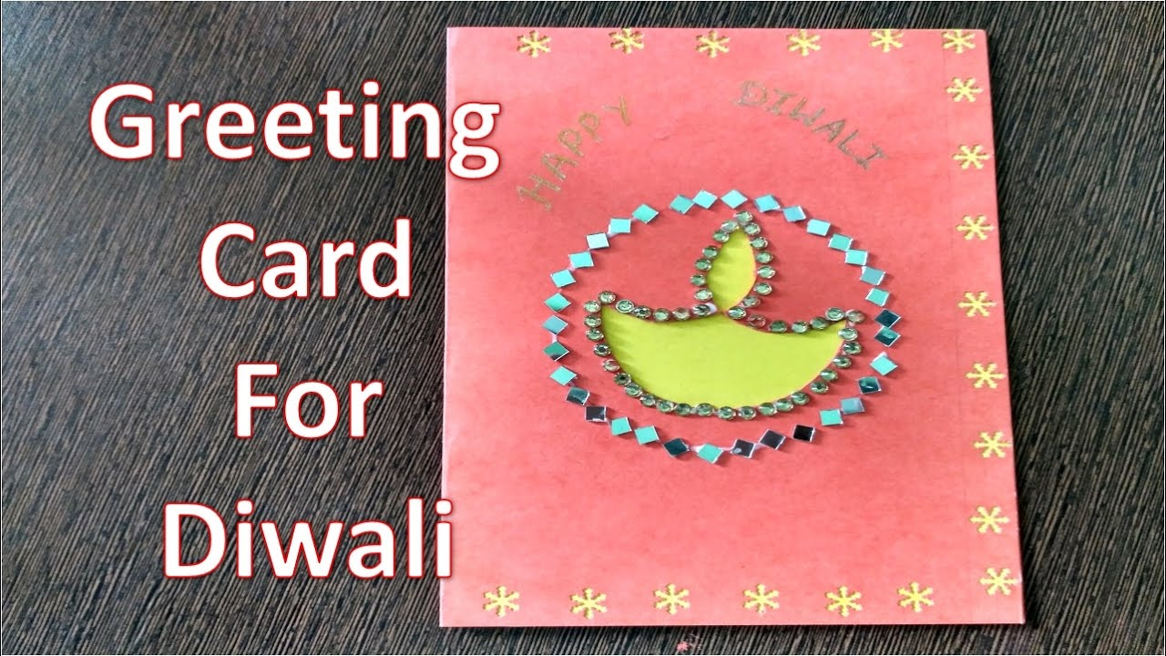 Diwali Greeting Card Making Ideas Part - 31: Diwali Greeting Card Making Ideas | Diwali Card Design