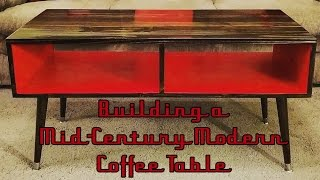 Mid-Century Modern Style Coffee Table Build