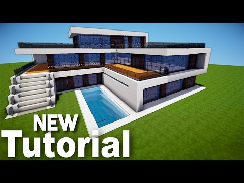 Minecraft How To Build Realistic Modern House Best Mansion Tutorial