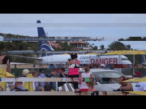 St Maarten Maho Beach Plane Spotting - Princess Juliana Airport Philipsburg Maho Beach St Maarten