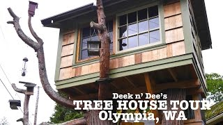 Awesome Tree House In Olympia, Wa  Deek And Dee Williams Adult Tour