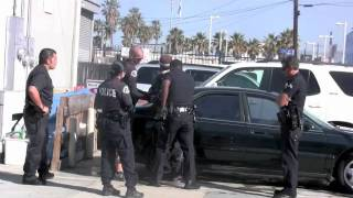 A man was yelling at KTLA news Reporter Wendy Burch  LAPD called