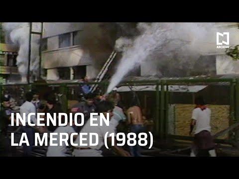 Antiguo incendio en el Mercado de la Merced (1988)