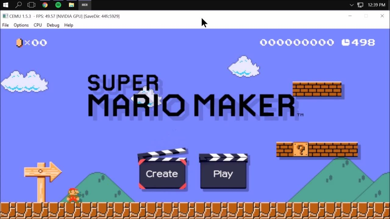 how to play super mario maker on cemu
