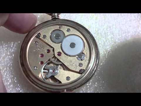 How I take apart a water damaged pocket watch, Bulova 16AE