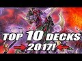 Yu-Gi-Oh! TOP 10 DECKS OF 2017! (End of the Year Recap)