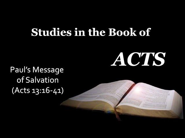Sunday Morning, April 11, 2021, Pastor John Tilley: Studies in Acts