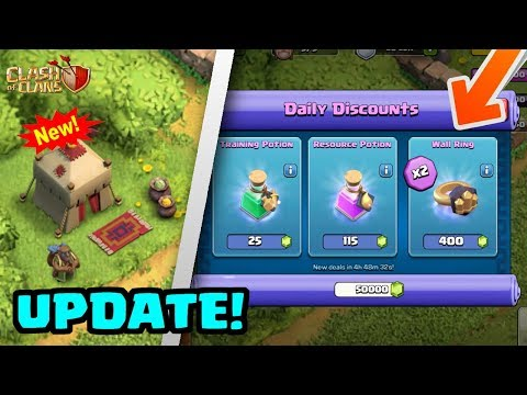 HUGE UPDATE: Trader, New Magic Items, Balance Changes! | Clash of Clans Spring Update 2018