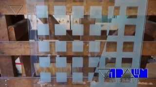 Vitralum Glass Solutions, etched shower doors, frameless shower enclosures Orlando, shower doors
