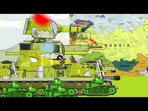 Tank Cartoon การ์ตูนรถถัง : ตอน : การเดินทางไปหาkb-6 A1และkb-44 part3 - Folk Channel