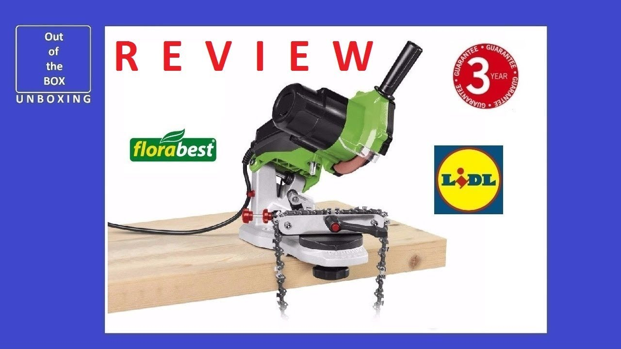 review florabest chain sharpener fsg 85 d1 (lidl 85w 5000 rpm 104 mm