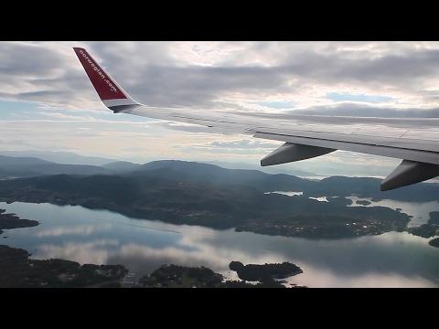 Norwegian 737-800 Bergen-Reykjavik/Keflavik Push-back, Takeoff, Inflight, Landing DY1172