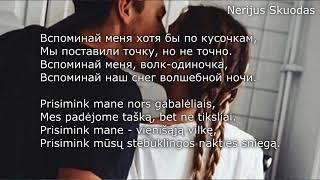 [lyrics] Вспоминай меня... ❤ [Волк-одиночка!] [LIETUVIŠKAI!]