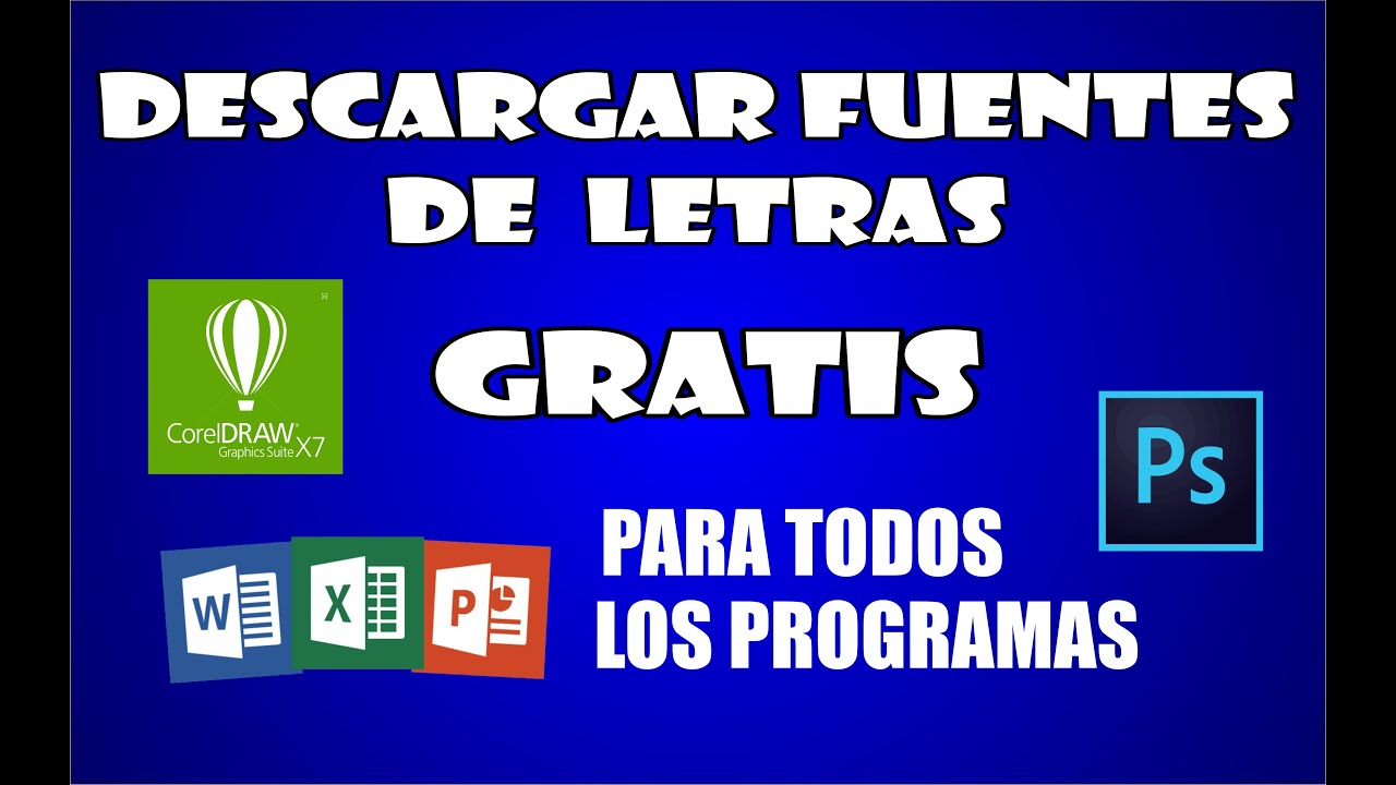 Descargar diferentes tipos de letras para pc 2017 youtube for Diferentes tipos de ganchos para cortinas