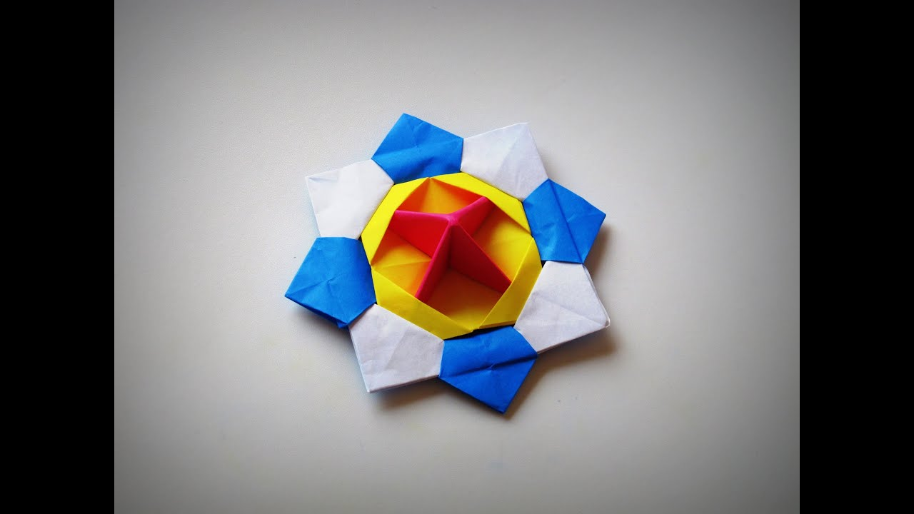 Origami How To Make A Spinning Top New Pov Video Youtube