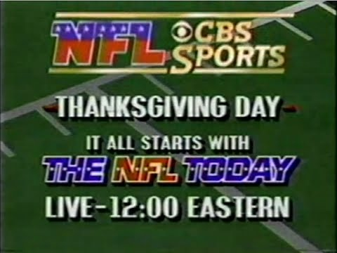 NFL Flashback Week 11 - NFL Thanksgiving Day Games (1988)