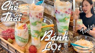Chè Thái Bánh Lọt - Cách Pha Bột Để Làm Chè Thái Bánh Lọt Lá Dứa Cực Ngon - Mixed Fruits Dessert