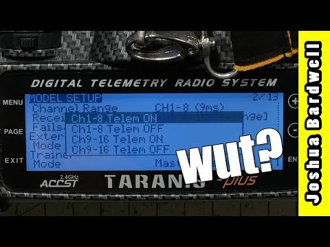 FrSky Bind Telemetry ON/OFF Channel 1-8 9-16 WHAT DOES IT MEAN