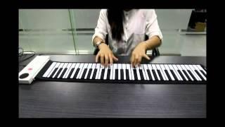 61 Keys Roll up Electronic Piano Keyboard Flexible Roll up Electronic Keyboard Piano