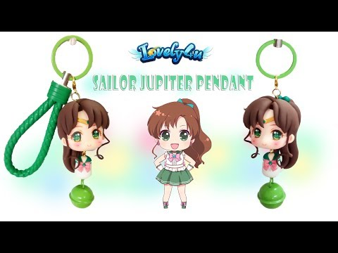 48】Sailor Jupiter pendant【Clay Tutorial/ Anime Figure/ DIY/Lovely4u】