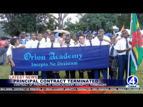 CONTRACT OF PRINCIPAL AT ORION ACADEMY ABRUPTLY TERMINATED