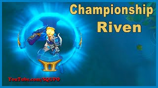 Championship Riven - Skin Update 2016 (League of Legends)